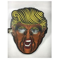 media máscara mariposa al por mayor-Máscara Trump Glow Máscara media mariposa Máscara Donald Trump 2020 Presidente de los Estados Unidos Elección creativa Máscara brillante Máscaras Suministros para la fiesta HHA423