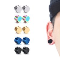 Wholesale ear holes earring for sale - Group buy Pair PC There is no ear hole Mens Women Simple Earrings Trendy Round Clip Ear no Stud Magnet Magnetic Magic Earring