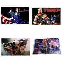 anúncios de iluminação venda por atacado-Bandeira americana Padrão Bandeira Donald Trump Bandeiras 90X150 CM Ad Fibra De Poliéster Vários Estilos Ultra Fino Luz Colorido 15cg C1