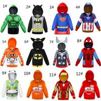 makyaj malzemeleri toptan satış-Bebek Hoodies süper Kahraman ceket Çocuklar Arabalar Uçaklar Spor Küçük Çocuk Eşofman Cadılar Bayramı Makyaj Akşam parti Çocuklar Ceket giysi AA19211