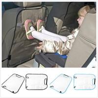 couvre-siège bleu achat en gros de-Tapis de protection contre le recul du siège d'auto arrière auto-nettoyant sale et transparent