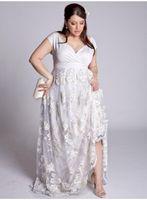 vestidos de casamento de seda mais tamanho venda por atacado-2019 A-Line Vestidos de noiva 3D floral Lace Apliques Árabe sexy Vestidos de casamento de seda elástica como mancha plus size vestidos de noiva custom made