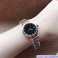 hermosas mujeres reloj al por mayor-Hermosa mujer de cuarzo de pulsera 29MM oro del acero inoxidable bracklet Conocer mujeres relojes de señoras Diamante Negro Dial marcadores de hora