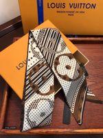 ingrosso b sciarpa-Sciarpe eleganti da donna Design originale Squisita cravatta e fettuccia multifunzione con scatola B-120020