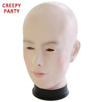 Wholesale full face mask for girls for sale - Group buy Realistic Female Mask For Halloween Human Female Masquerade Latex Party Mask Sexy Girl Crossdress Costume Cosplay Mask J190710