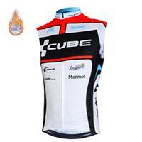 кубическая зимняя одежда оптовых-2019 CUBE Pro мужская Велоспорт зимний тепловой флис Джерси без рукавов велосипед рубашка велосипед одежда ropa Ciclismo Invierno