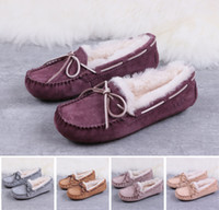 Wholesale pea bow shoes for sale - Group buy 2020 best designer boots Australia ladies winter warm high to help snow boots short bow boots mens classic flat pea shoes uf3623