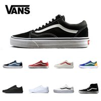 36739ee221 Brand Vans Old Skool For Men Women Casual Shoes Canvas Sneakers Black White  Red Blue Fashion Cheap Sport Skateboard Shoe Size 4.5-10