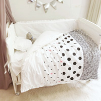 bebek mavi beşik yatak takımları toptan satış-Bebek Yatağı toddler yatak yenidoğan bebek yorgan beşik seti Çarşaf Yastıklar yorgan Yastık Tamponlar Bebek odası için YCZ039