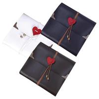 искусственная намотка оптовых-Home Decor Photo Album Wedding Handmade Artificial Leather Heart Rope Vintage Sticky Gifts Scrap Travel Craft Anniversary