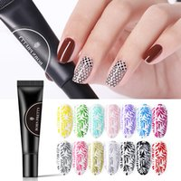 Wholesale stamping plates for nails for sale - Group buy Nail Stamping Gel Polish Black White ml Soak Off Nail Gel Lacquer Varnish For Stamping Plate