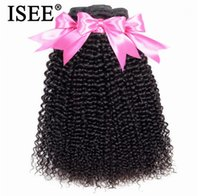 Wholesale malaysian kinky curly hair weave for sale - Group buy 2020 New ISEE HAIR Bundles Kinky Curly Human Hair Extension Malaysian Hair Weaves Remy Bundles Natural Color