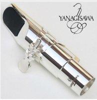 types de saxophone achat en gros de-Yanagisawa Embouchure de Saxophone Alto en Métal Embouchure Plaquée en Argent Bec de Bec de Saxophone Tous types 5-9