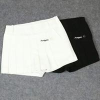 ingrosso bellissime signore abbigliamento-Pantaloncini da golf da donna Pearly Gates Sport all'aria aperta Abbigliamento anti-svuotamento in cotone elastico per belle donne Colore nero / bianco