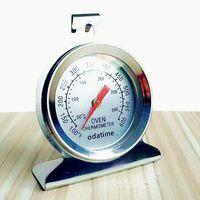 çevirme gıda termometresi toptan satış-Odatime 100-600F Derecesi Gıda Et Paslanmaz Çelik Mutfak Pişirme veya Fırın Termometre Yukarı veya Dial Sıcaklık Ölçer Asılı Standı