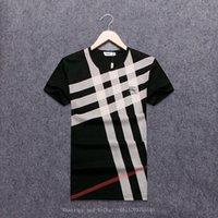 camisas de tiempo al por mayor-Camiseta Moda que manga corta T Lástima de algodón puro Impresión de cuello redondo Medio desgaste de los hombres Tiempo libre Camisa gráfica de movimiento fácil