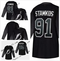 Wholesale blank hockey jerseys sale resale online - Cheap Mens Nikita Kucherov Nikita Kucherov Blank Tampa Bay Lightning Third Hockey Jersey Top Quality On Sale Size XS XXXL