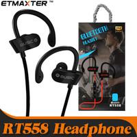kosten ohrhörer großhandel-Kostengünstige Kopfhörer RT558 Sweatproof Sport-Ohrhörer Drahtlose Bluetooth-Ohrhörer für iPhone X Xs Max 7 8