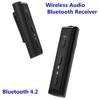 Wholesale mini audio jacks resale online - Portable Car mm Jack Car Kits Mini Wireless Bluetooth Receiver Handsfree Transmitter Music Audio Adapter with Clip Design