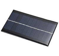 diy solarzellen-ladegerät großhandel-Mini 6 V 1 Watt Solar Power Panel Sonnensystem DIY Für Batterie Handy Ladegeräte Tragbare Sonnenkollektoren 110 * 60mm DIY Modul