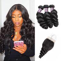 Wholesale brazilian human hair prices for sale - Price Brazilian Loose Wave Human Hair Bundles With Closure Ishow Hair Cheap A Peruvian Virgin Human Hair Extensions