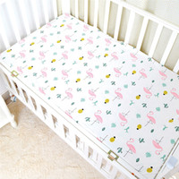 подгузники для животных оптовых-Baby Bed Sheet Crib Sheet Cartoon Animal Printed Colchon Toddler Cot Cover 100% Cotton High Quality Baby Bedding Sets