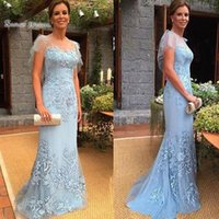 Wholesale hot stock shorts online - 2019 Mermaid Appliques Short Sleeves Tulle Formal Evening Wear In Stock Hot Sales High end Quality Dress
