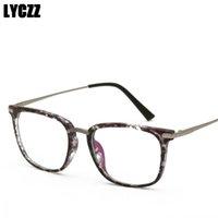 armações ópticas para machos venda por atacado-LYCZZ Limpar Lente Anti Azul Óculos de Luz Feminino Masculino Vintage TR90 Óculos de Armação de Óculos Espetáculo Do Vintage Quadros Óptico Tag