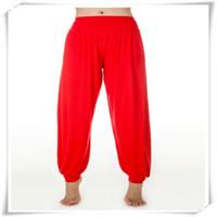 Wholesale dancing black yoga dance harem pant online - Yoga Pants Modal Cotton Lady Soft Yoga Sports Dance Harem Pants Belly Dance Yaga Wide Pants Trousers Outdoor Wear