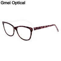Wholesale optical spring hinges resale online - Gmei Optical New Trendy Cat Eye Acetate Full Rim Optical Glasses Frames Women Myopia Presbyopia Eyewear With Spring Hinges A1152