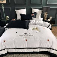 Wholesale full size silk sheet set resale online - Home Textile Solid Satin Silk Soft and Smooth Bedding Set Full Queen King Size Bedclothes Duvet cover Flat sheet Pillowcases