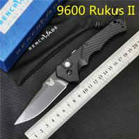 черные ножи бабочки оптовых-Benchmade 9600 Rukus II Black Класс Авто нож Открытый кемпинга EDC BM 940 BM940 BM535 BM810 BM550 BM781 BM3300 3350 3310 Бабочка НОЖ