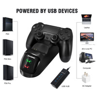 Wholesale usb charge controller for sale - PS4 Controller Joypad Joystick Handle USB Charger Dual USB Fast Charging Dock Station for Playstation PS4 Slim PS4 Pro