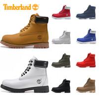 sapatos de inverno ao ar livre venda por atacado-Botas Timberland para os sapatos Homens Mulheres Designer Inverno Bota azul Militar Preto Branco Triplo Moda Mens instrutor caminhadas ao ar livre da sapatilha
