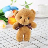 bären blumen großhandel-Baby Mädchen Plüschtiere Blumensträuße Teddybär Mini Soft Design Hochzeit Dekoration Bär Spielzeug Ornamente
