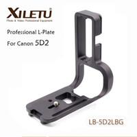 eos mark ii al por mayor-Xiletu LB-5D2LBG Professional L Soporte de montaje de trípode de aluminio de placa de liberación rápida para Canon EOS 5D Mark II 5D2 Arca Swiss