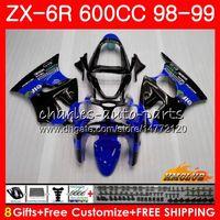 Wholesale black white 636 for sale - Group buy Fairing For KAWASAKI NINJA ZX CC ZX6R Kit HC ZX636 ZX R ZX R ZX600 CC ZX R Body blue black new