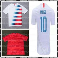 jogador dos estados unidos venda por atacado-EUA PULISIC camisas de futebol player versão Yedlin 2 BRADLEY 4 DEMPSEY 8 camisetas Estados Unidos Homens futebol Jersey