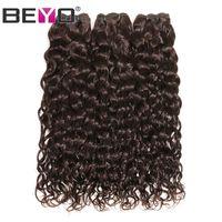 água tecendo 24 polegadas venda por atacado-Onda de água Pacotes Dark Brown Raw cabelo indiano do Virgin 100% cabelo humano Weave Pacotes # 2 Cor 3 Ofertas Bundle 10-24 Inch Remy Beyo