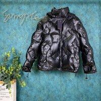 abajo chaquetas unisex al por mayor-19SS París otoño y la nueva moda de invierno Pop relieve la presbicia unisex de alta calidad superior caliente y cómoda chaqueta negro
