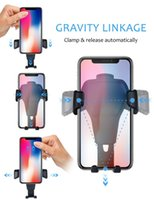 Wholesale one handed phone holder for sale – best Universal Car Phone Holder Gravity Car Air Vent Mount In Car For Iphone X Samsung Xiaomi One hand Operate Phone Stand Bracket