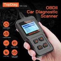 Wholesale OBD2 Diagnostic Scan Tool EOBD Vechicle I M Ready Car Engine TP109 OBD TopDiag Code Reader Scanner Automotive OBD2 Scanner