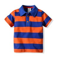 Wholesale rainbow baby boys clothing for sale - Group buy 2020 New Baby Boys T shirt Toddler Short Sleeves Rainbow Striped Cotton Top Fashion Kids Boys Clothes
