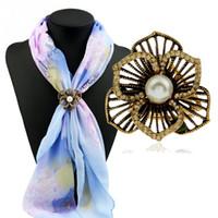 ingrosso clip d'epoca d'epoca-Hot nuovo delicato vintage in lega di zinco sciarpa fibbia donne clip regalo accessorio gioielli donna