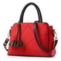 красные синие сумочки оптовых-MONNET CAUTHY 2019 New Bags for Women Classic Fashion Elegant Office Ladies Handbags Solid Color Red Blue Grey Crossbody Totes