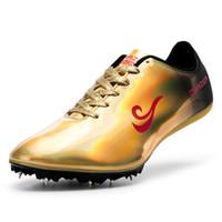 picos suaves de atletismo venda por atacado-Picos profissionais Sapatos de Corrida Atletismo Homens Pista Raça Pular Sapatos Macios Sneakers Treinamento de Campo Atlético Zapatillas
