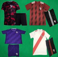 kits de carpa venda por atacado-19 20 River Plate Futebol Kit 2019 2020 MARTINEZ BALANTA CAVENAGHI VANGIONI Camisa de Futebol Shorts CARP Casa Fora Terceiro Uniforme de Futebol