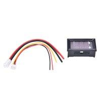 dc dijital amper göstergesi toptan satış-DC 100 V 10A Voltmetre Ampermetre Mavi + Kırmızı LED Amp Çift Dijital Volt Metre Ölçer EN Kaliteli