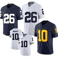 66d4dcf566a Wholesale michigan wolverines football jerseys resale online - 26 Saquon  Barkley Penn State Nittany Tom Brady