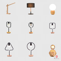 mesa moderna italia al por mayor-Personalidad mesa de madera mini lámpara de tabla decorativa lámparas de diseño dormitorio de lectura del vector del accesorio de iluminación de múltiples dinastía diseño opcional